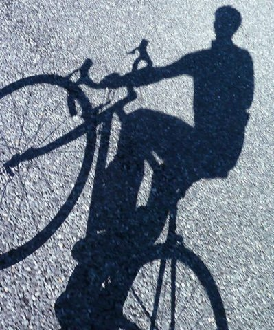 bike shadow photo