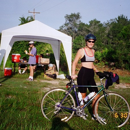Bicycling pit stops along the bike route.