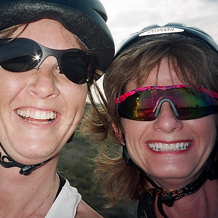 Lynnette and Laura -- biking buddies in Orlando, Florida.