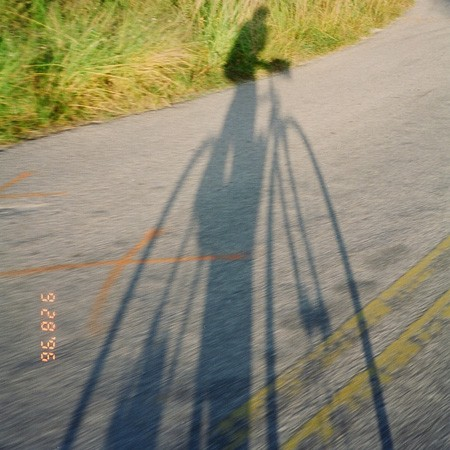 My biking shadow... I took this picture while cycling.
