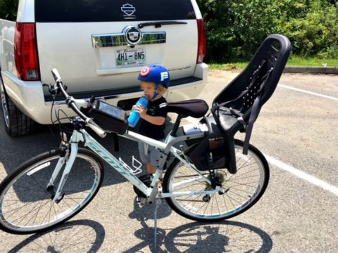 Staying hydrated before, during, and after our family cycling adventures.