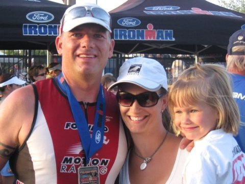 triathlon family photo - beginner triathlete